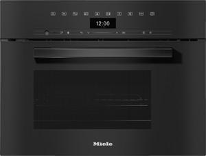 Miele - DGM 7440 Siyah Kombi Mikrodalgalı Buharlı Fırın