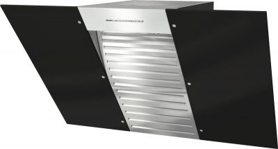 DA 6096 W Wing Black Duvar Tipi Davlumbaz